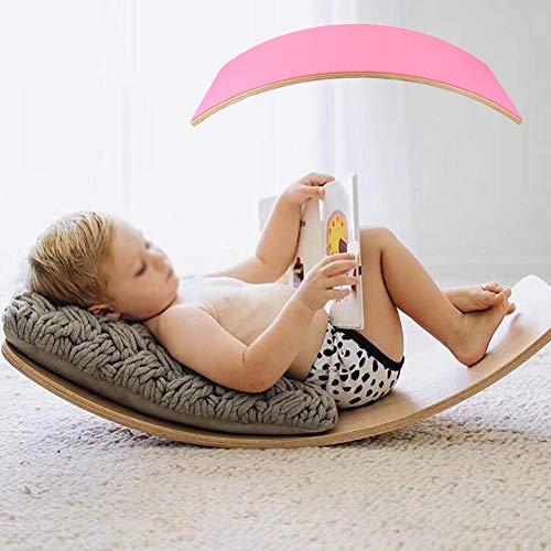 lxfy Holz Balance Board, Waldorf Curvy Board Kinder Balance Spielzeug, Contribute Kid Bauen einen Sinn für Balance, Muskel-Körper-und-Geist-Entwicklung Lernspielzeug