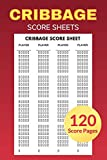 Cribbage Score Sheets 120 Score Pages: Perfect Scoresheet Record Book or Cribbage Games, Travel Size (6' x 9')