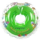 Baby galleggiante TÜV GS collana Nuoto anello misura 6 – 36 kg (0 – 36 mesi), Aiuto per nuotare Baby nuoto anello bagno Aiuto Nuoto Trattenuto INER in verde