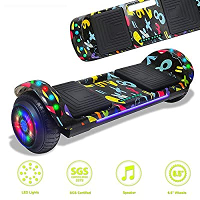 Latest Model Electric Hoverboard Dual Motors Two Wheels Smart self Balancing Scooter with Built in Speaker LED Lights for Gift (Image 1)