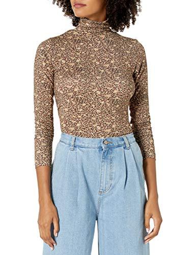 Marque Amazon - Phoebe T-shirt à manches longues et col roulé, coupe cintrée pour Femme par The Drop