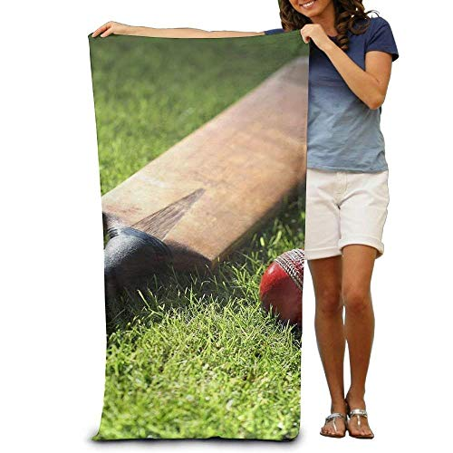 kaifaquwukuibaihuodian Cricket Bat and Ball Polyester Velvet Beach Towels 31