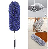 SynSo Microfiber Extendable Dusting Brush Hand Duster with Telescoping Pole (Small, Random Colours)