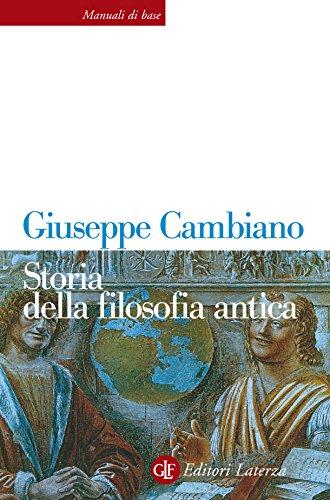 Storia della filosofia antica (Manuali di base Vol. 22)