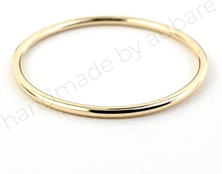 Solid 14k Gold Thin Stacking Ring