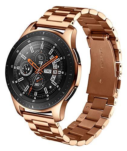 XIRUVE Correa de Reloj, Compatible con el Samsung Galaxy Watch 46mm/Galaxy Watch 3 45mm/Gear S3 Frontier/Gear S3 Classic, 22mm Acero Inoxidable Reemplazo Liberación Rápida