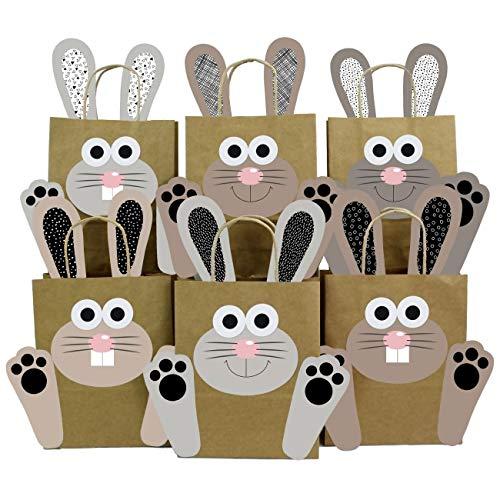 Papierdrachen DIY Osternester für Kinder mit Osterhasen in schwarz-weiß - Ostergeschenke für Kinder und Erwachsene - Osterdeko - Ostern 2020