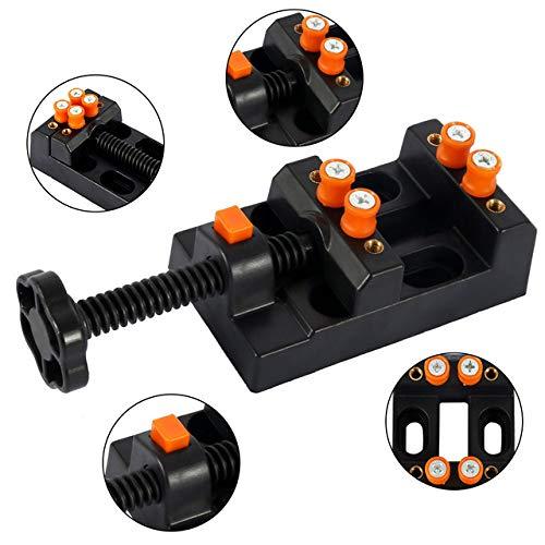 alicates LKU Pequeño tornillo de banco de mesa en miniatura abrazadera de banco tornillo de banco herramienta tornillo de banco multifuncional tornillo de banco para tallado, negro
