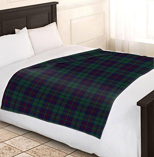 Suave y cálida 150x 200cm cama doble sofá manta a cuadros Polar