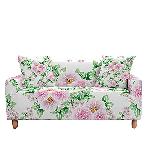 WXQY Funda de sofá elástica con Estampado Floral, Funda de sofá de Esquina combinada en Forma de L, Funda de sofá Todo Incluido Antideslizante A7 2 plazas