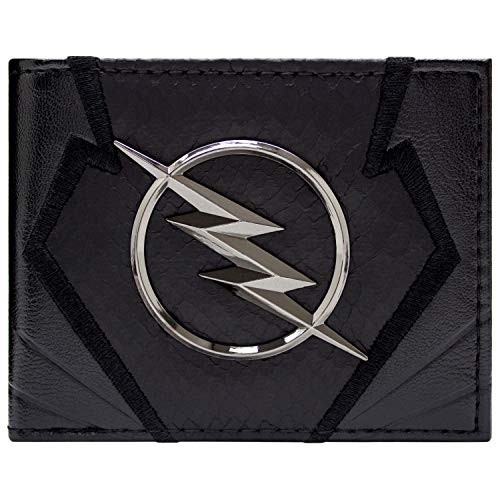 Cartera de The Flash Zoom Emblema Jay Garrick Negro
