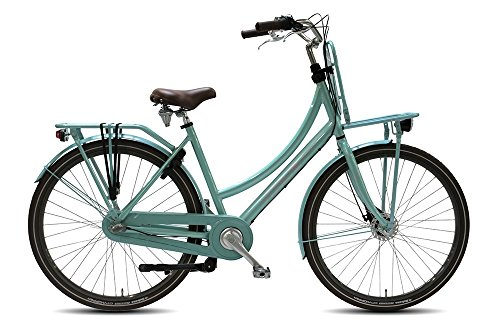 28 ZOLL Damen Hollandrad Nostalgie Fahrrad Alu Damen Vogue Elite Plus 7 gang Rollerbrake Mint Blau Rh:50cm