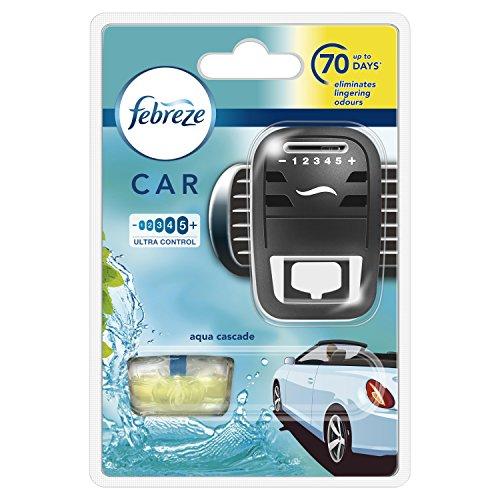 Febreze 81600305 7 ml Car Aqua Cascade Air Freshener Starter Kit - Pack of...