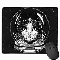 猫 宇宙飛行士 マウスパッド 運びやすい オフィス 家 最適 おしゃれ 耐久性 滑り止めゴム底付き 快適操作性 30*25*0.3cm