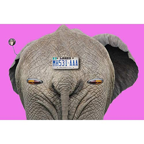 SINACO - Kit di diamanti, per adulti, 5D fai da te con diamanti, con decorazione rotonda, grande decorazione per la casa Elephant Car 15.7 x 11.8 in 1 confezione