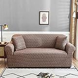 PPOS Blumendruck Elastischer Sofabezug Stretch Sofabezüge für Wohnzimmer Couchbezug L-Form Sessel Stuhl Schonbezüge D3 4 Sitze 235-300cm-1pc