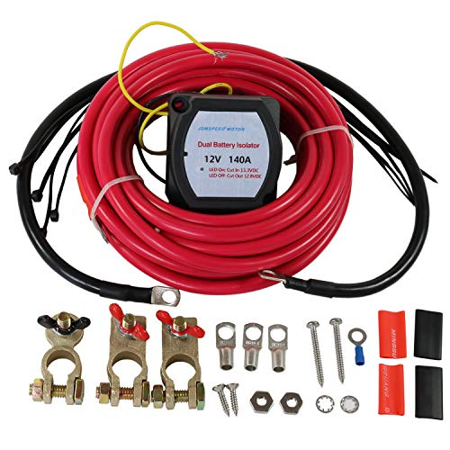 JDMSPEED New 12V 140A Dual Battery Isolator Kit Replacement For ATV UTV 4WD...