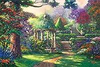 クロスステッチ 大人のためのクロスステッチキット 色とりどりの庭 40x50cm 11CT番号別刺繍キット手作りキットパンチ針刺繍DIY初心者向け手作りスターターキット
