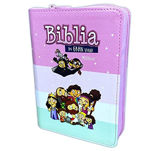Compare Textbook Prices for Biblia para Niñas Mi Gran Viaje - Reina Valera 1960 imit piel acolchonada multicolor rosa  ISBN 9788480838528 by Reina-Valera
