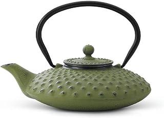 asiatisk tekanna gjutjärn Jing 0,8 l grön noppstruktur