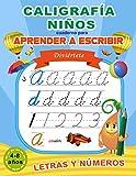 Caligrafía niños: Cuaderno para aprender a escribir letras y números: Libro de actividades para niños de 4-8 años