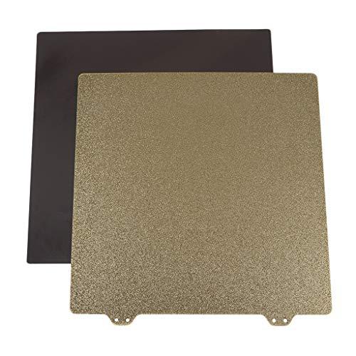 Almencla Hoja de Acero de Muelle Texturizado Pei Doble Cara 220x220mm para Anet A8 para Wanhao