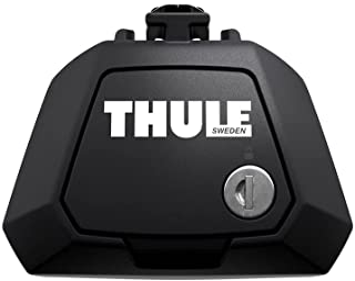 Thule 710400 Evo Dakdragers, Zwart, Set van 4