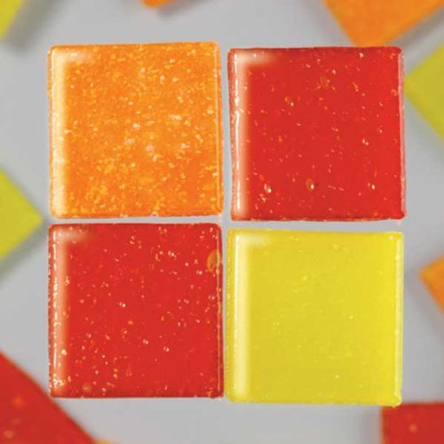 MosaixPro 200 g 10 x 10 x 4 mm 302-piece Glas Fliesen, rot Mix