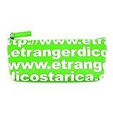 エトランジェ・ディ・コスタリカ ペンケース(M)[TYPOGRAPHY]グリーン TYPOーP1ー06 3個
