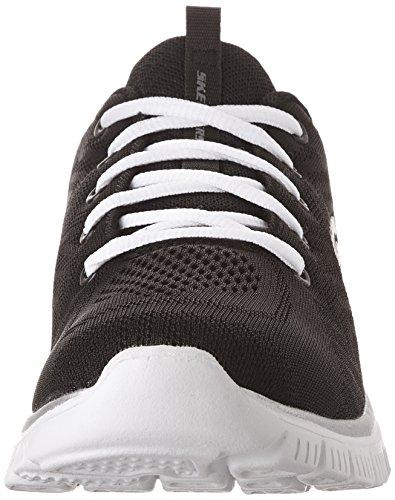 Skechers Graceful-Get Connected, Zapatillas Mujer, Negro (BKW Black Mesh/Trim), 38 EU