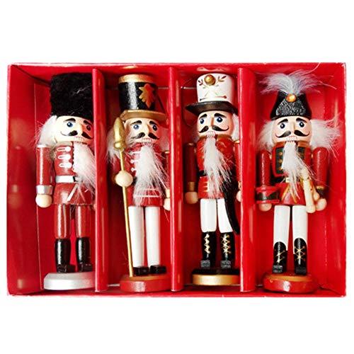 Owlhouse Wooden Soldier Nutcracker Doll, Christmas Ornament Nutcracker...