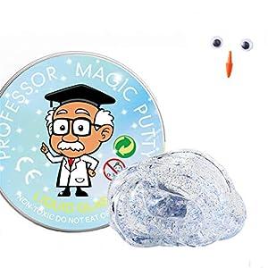 MIORIO Los Juguetes Transparentes de Limo Nunca se secan, sin Cristal de bórax, Pegamento, plastilina, Arcilla, niños