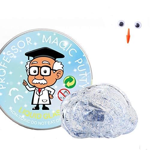 MAGELIYA Juguetes de Limo Transparente, Nunca secar, sin Pegamento de Cristal de bórax, Arcilla de plastilina para niños, Juguete Suave para Regalo de Bricolaje