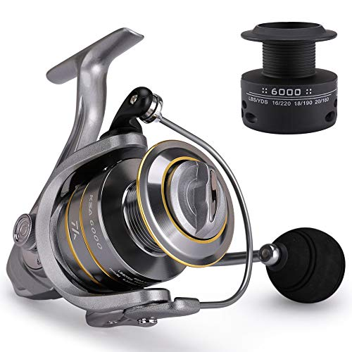 Mounchain Spinning Angelrolle, 14+1 Double-Line Cup Spinning Angelrolle Baitcasting Angelrolle Angeln Anti Korrosions Salzwasser 3000