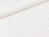Swafing Baumwollstoff Judith Pünktchen grau auf Weiß