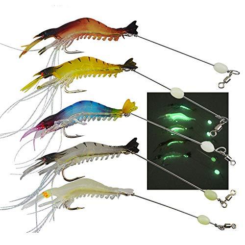 Senven Cebo camarón artificial, Señuelos de pesca, Señuelos pesca Forma Camarones biónicos...