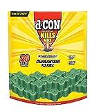 D-Con Refillable Corner Fit Mice Bait Station, 1 Trap + 20 Bait Refills
