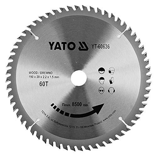 discos sierra circular madera YATO (60 dientes) profesional- discos para sierra circular,...