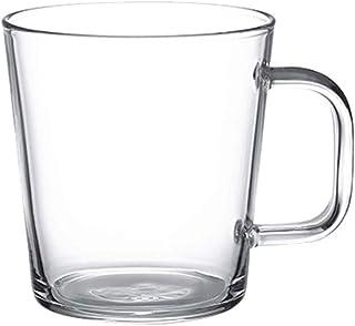 Glass Tumbler الملاحظات الزجاجية واضحة، مجموعة كأس الزجاج، المشروبات، الحليب، كوب زجاجات زجاجية مزدوجة القدح مع مقبض (2 قط...