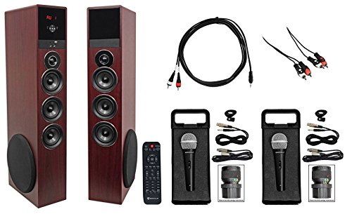 Best Bargain Rockville All-in-one Bluetooth Home Theater/Karaoke Machine System w/2) Mics