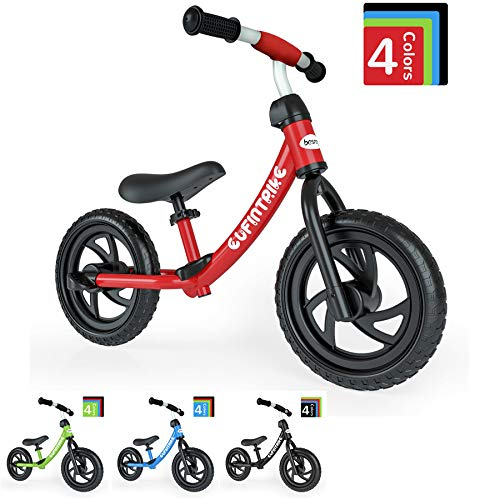 besrey Laufrad 12 Zoll Lenker und Sitzhöhe sind verstellbar für Kinder über 3 Jahre geeignet erhältlich Universell drinnen und draußen.
