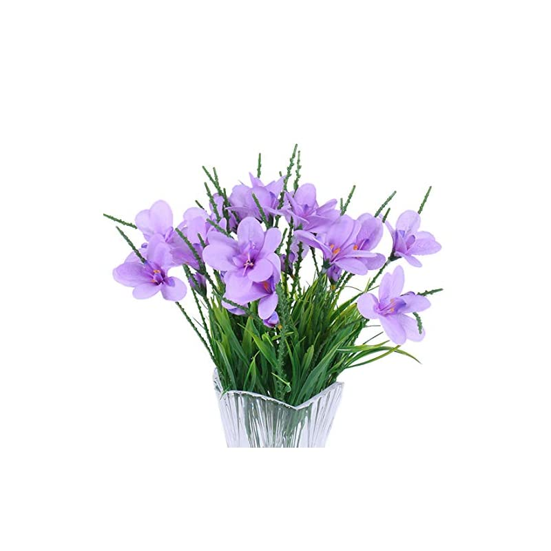silk flower arrangements calcifer 3 sets(7 stems/set) 22.83''freesias artificial flowers bouquet for home decoration/wedding decor