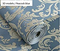 ウォールステッカーステッカー壁紙 不織布壁紙3Dの救済、ヨーロッパのクラシックラグジュアリー壁紙ベッドルームリビングルームのテレビのソファの背景の壁紙 (Color : 6, Dimensions : 5.3Square meter)
