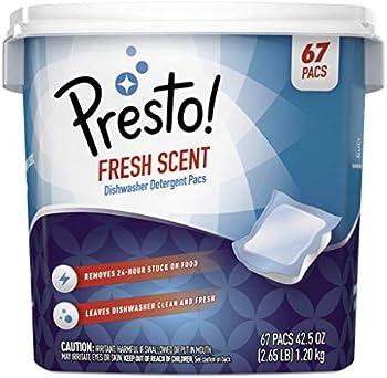 67-Count Presto! Fresh Scent Premium Dishwasher Detergent Pacs