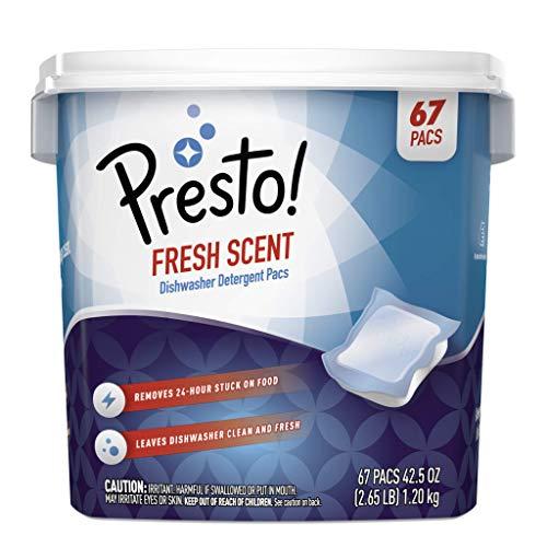 Amazon Brand - Presto! Premium Dishwasher Detergent Pacs, Fresh Scent, 67 count
