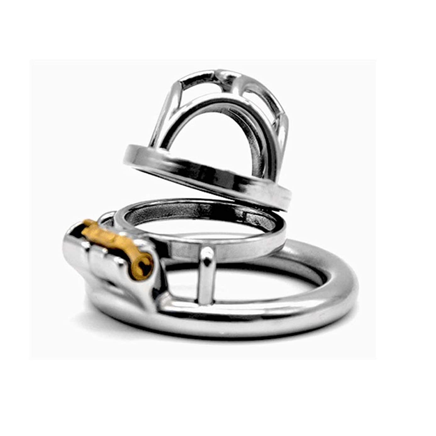 MXD Men's Waterproof Stainless Steel Chastity Lock Short Chicken Cage Design Ventilation Comfortable and Convenient