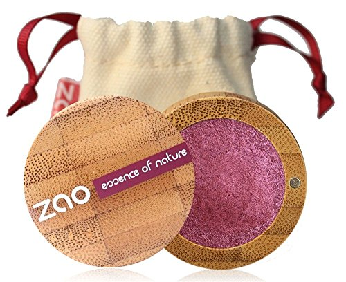 ZAO Pearly Eyeshadow 115 rubinrot weinrot pflaume Lidschatten schimmernd / Perlglanz in nachfüllbarer Bambus-Dose