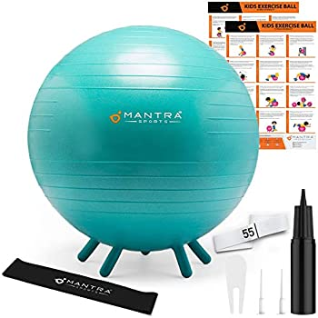 Flexible Seating for Classroom Elementary Yoga Ball Chair Classroom Furniture Alternative Seating for Students Classroom Helps Kids Balance Stability & Sensory Needs - With Exercise & Games Poster