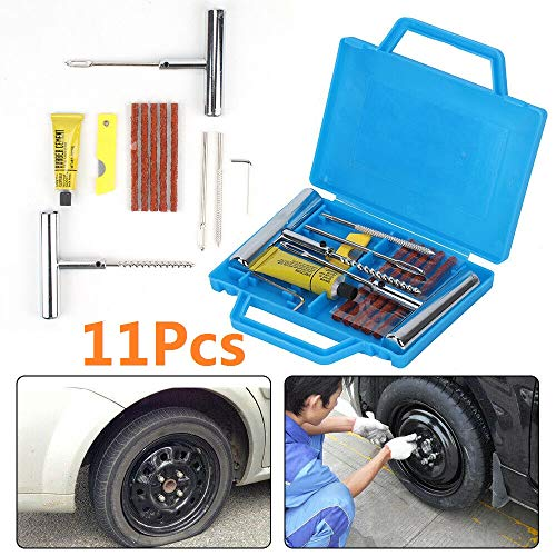 MorNon 11Pcs Herramientas de Reparación de Neumáticos de Automóviles Kit de...