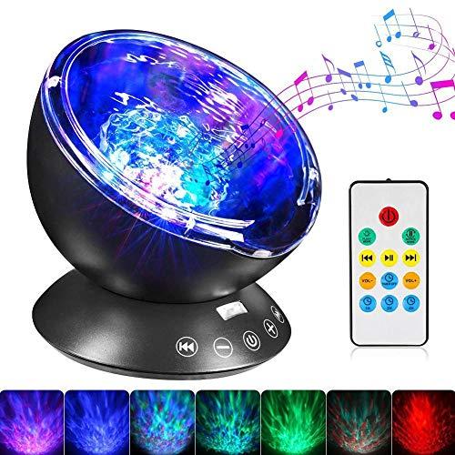 Estrellado Sky Wave Proyector de Música LED Luz de Noche Color RGB de la Habitación de los Niños de la Atmósfera de la Lámpara de Cumpleaños Regalo de Vacaciones